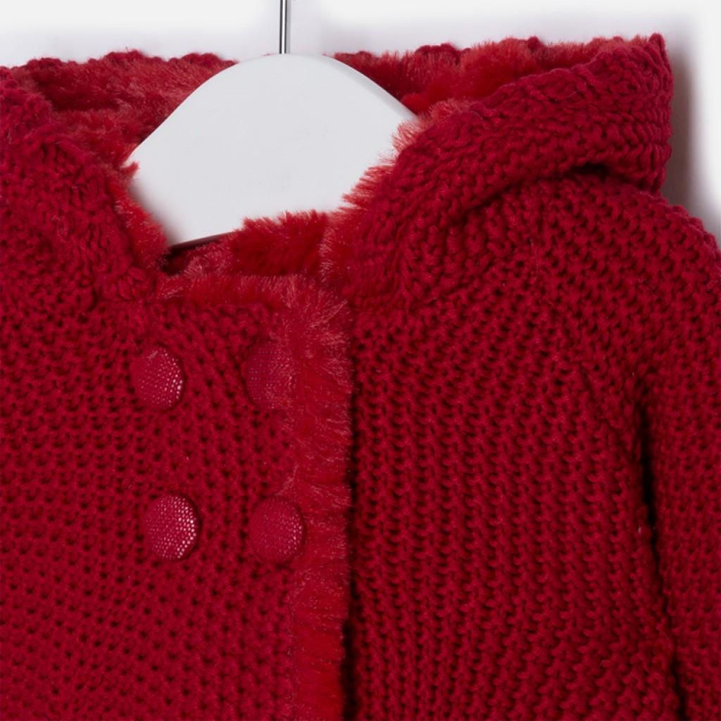 d166b5b6e087 Dievčenský sveter pletený s kapucňou - BKC