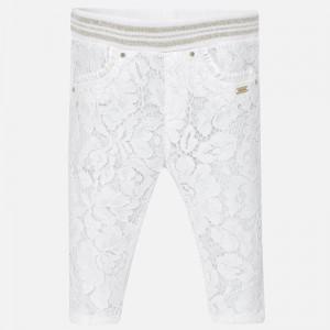 Dievčenské nohavice bavlnené - LACE - 1517-19