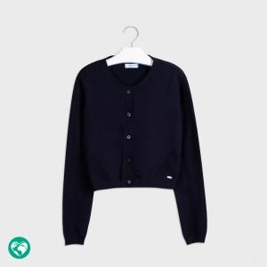 Dievčenský sveter pletený - KCG - 7332-18