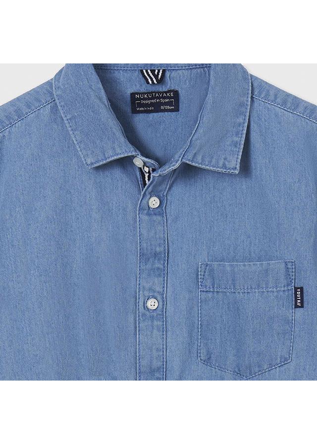 Chlapčenská košeľa s krátkym rukávom - DENIM
