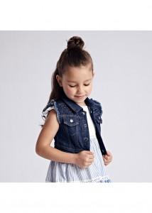 Dievčenská vesta riflová - Denim - 3326-40