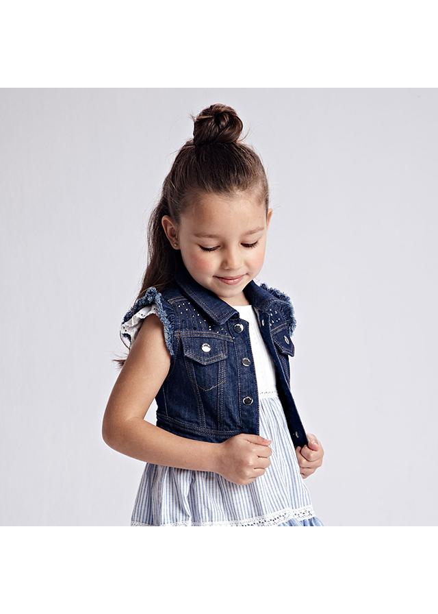 Dievčenská vesta riflová - Denim